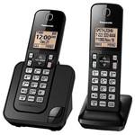Telefone Sem Fio Panasonic com Bloqueio de Chamadas - Preto - 2 Bases