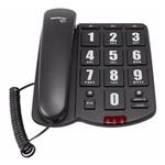 Telefone Tok Fácil C/ Teclas Grandes Preto Intelbras
