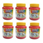 Tempera Guache 250ml Pct 6 Unidades Acrilex - Vermelho Fogo