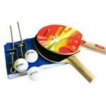 Tênis de Mesa, Ping Pong Klopf Olimpic 15 Mm MDP com Pés Dobráveis + Kit Raquetes, Bolinhas e Rede