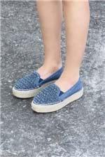 Tênis Feminino Plataforma Stacy Mundial Azul Jeans Versao 3/35