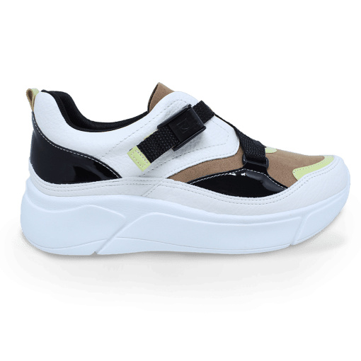 Tenis Piccadilly 986003 /preto/natural 986003