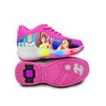 Tênis Princesas Disney com Luzes e Rodinhas Tamanho 34 - Dtc