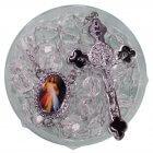 Terço de Acrílico Cristal com Foto de Santos Diversos | SJO Artigos Religiosos