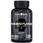 Termogênico Thermo Flame Caveira Preta Cafeína 60 Tabletes Black Skull