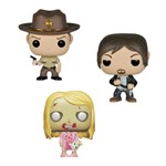The Walking Dead Pocket Pop Lata com 3 Mini Figuras Funko