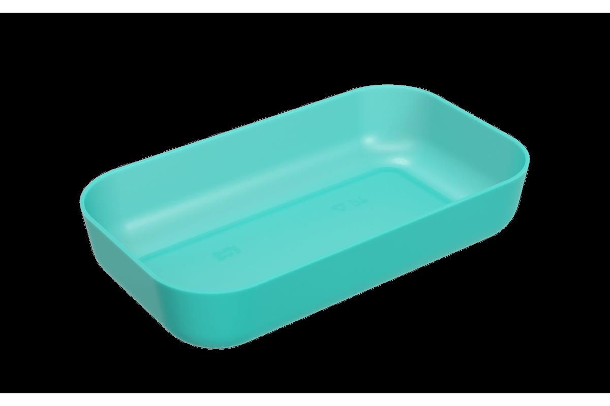 Tigela Retangular 2,8 L Essential 32,3 X 19 X 6,5 Cm 2,8 L Verde Coza