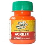 Tinta Acrílica Fosca 37ml 517 Laranja - Acrilex