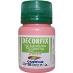 Tinta Acrilica Fosca Decorfix Rosa Cha 37ml Corfix Caixa com 06