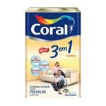 Tinta Acrílica Fosca Premium 3 em 1 Marfim 18l Coral