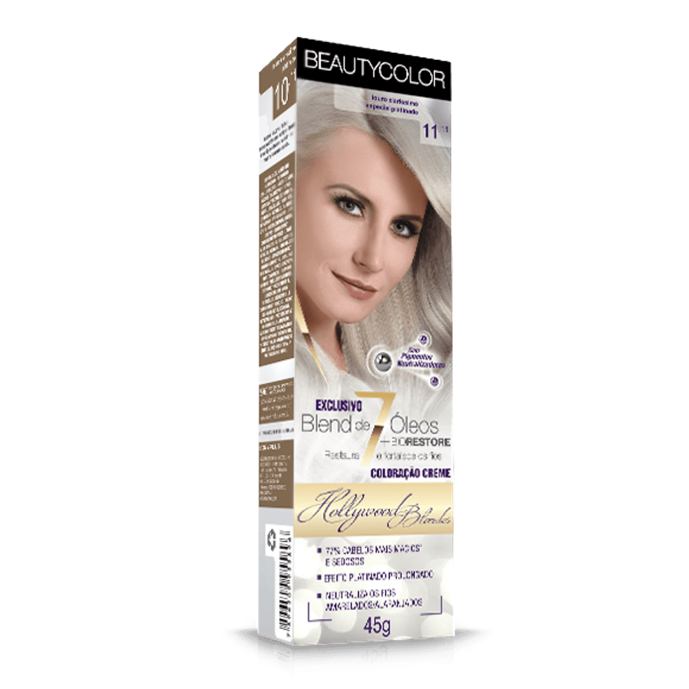 Tinta Beauty Color 11.11 Louro Ultra Clarís.Platinado