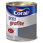 Tinta Grafite Sintética Fosca Escuro 900ml - CORAL