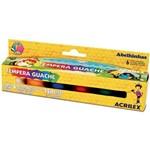 Tinta Guache 015ml 06 Cores Auto Servico Acrilex Pacote com 12