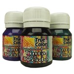Tinta para Tecido 37ml Cores Escuras - True Colors 1000 - Preto