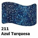 Tinta para Tecido Acrilex Glitter 37ml Azul Turquesa 211