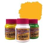 Tinta Plástica PVA - 37ml - Amarelo Gema - 833 - Acrilex