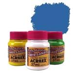 Tinta Plástica PVA - 37ml - Azul Cerúleo - 568 - Acrilex