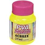 Tinta Pva Amarelo Limao 37ml Acrilex Caixa com 12