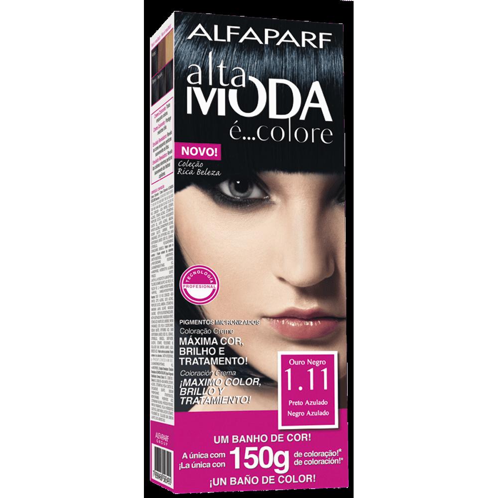 Tintura Altamoda Kit 1.11 Preto Azulado