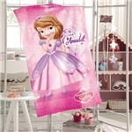 Toalha Banho Aveludada Infantil Menina Döhler Baby Estampado Princesa Sofia 07