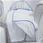 Toalha de Banho Avião Listra Azul com Capuz