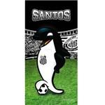 Toalha de Banho e Praia Time Aveludada Santos Mascote Oficial