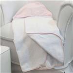 Toalha de Banho Realeza Poá Rosa com Capuz