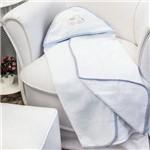 Toalha de Banho Transportes Azul com Capuz