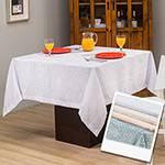 Toalha de Mesa Quadrada 1,60x1,60cm Impermeável Jacquard Annecy - Casa & Conforto