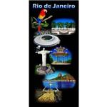 Toalha de Praia Aveludada Arara e Postais do Rio de Janeiro - Buettner