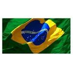 Toalha de Praia Gigante Aveludada Bandeira do Brasil Buettner