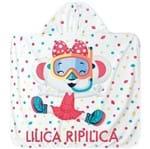 Toalha de Praia Lilica Ripilica Azul Menina - Tam. U