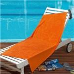Toalha de Praia Lufamar Linha New Summer Caribe Laranja