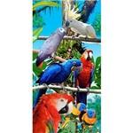 Toalha de Praia Veludo 76 X 152cm Buettner Birds Forest