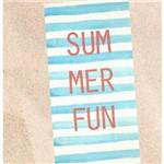 Toalha de Praia Veludo Dohler Summer Fun Azul