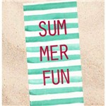 Toalha de Praia Veludo Dohler Summer Fun Verde