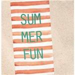Toalha de Praia Veludo Summer Fun Salmão Dohler