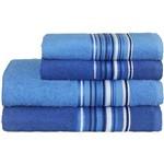 Toalha de Rosto Vegas 45 X 70cm Azul Marinho Camesa