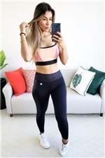 Top Colcci Fitness Detalhe Tela Force - Rosa