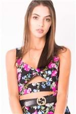 Top Cropped Feminino Floral TP0144 - Kam Bess