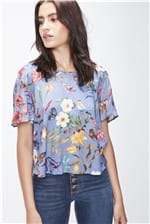 Top Cropped Floral Amplo Feminino