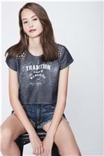Top Cropped Jeans Recollect - Tam: P / Cor: BLUE
