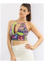 Top de Malha Estampa Mix Ethinic - M