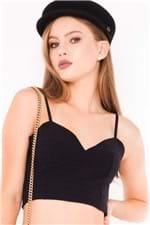 Top Feminino Cropped com Zíper TP0147 - Kam Bess