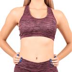 Top Fitness Nadador Feminino com Bojo Estampado (Rosa) P
