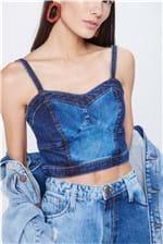 Top Jeans Cropped Feminino