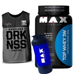 Top Whey 3w 900g Max Titanium Regata Darkness Integralmedica