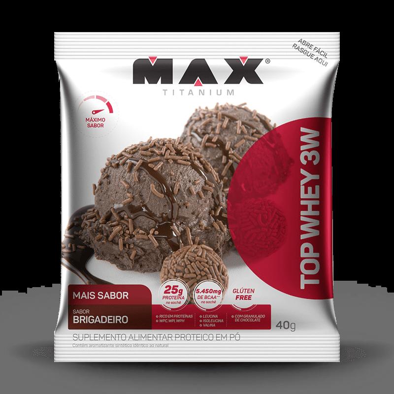 Top Whey 3W Mais Sabor (unid-40g) Max Titanium-Cookies & Cream