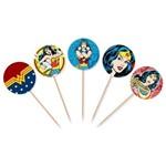 Topper para Cupcake e Doces Mulher Maravilha - 10 Unidades