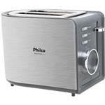 Torradeira Easy Toast Philco Preta/Aço Escovado